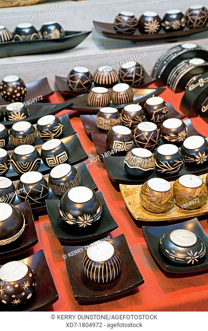 Display of gifts and handicrafts, Street market, Thanon Changklan, Chiang Mai, Thailand