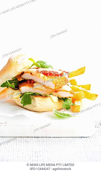 Chicken parmigiana burger