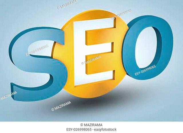 acronym concept: SEO for Search Engine Optimization on blue background