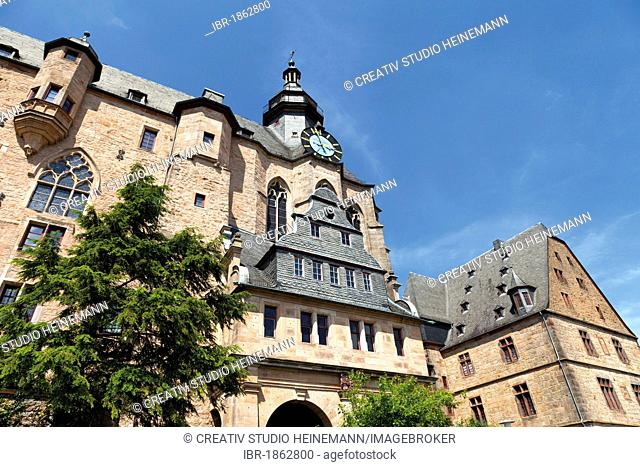 Marburger Schloss castle, Marburg, Hesse, Germany, Europe