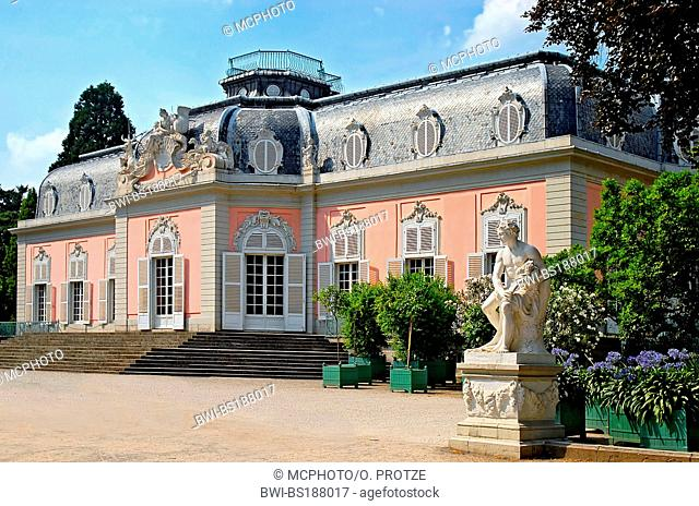 historic Benrath Castle, Germany, North Rhine-Westphalia, Duesseldorf