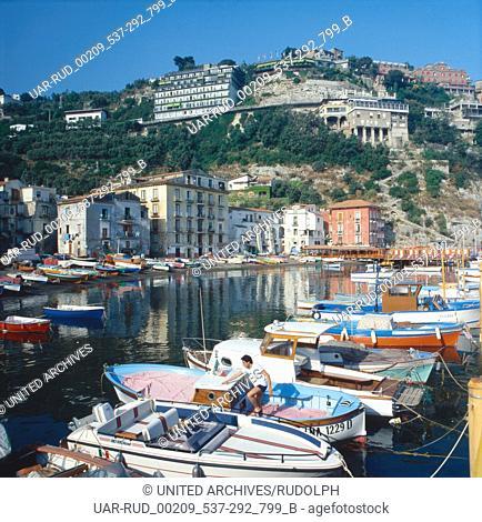 Urlaub in Sorrent, Italien 1970er/1980er Jahre. Vacation in Sorrento, Italy 1970s/1980s