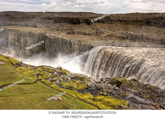 Dettifoss waterfall, Jokulsargljufur canyon, Iceland  Most powerful waterfull in Europe