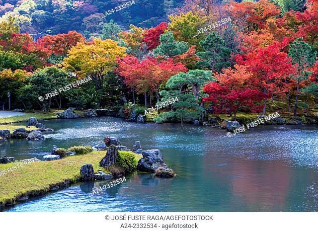 Japan , Kyoto City, Tenryu-ji Temple, Tenryu Garden