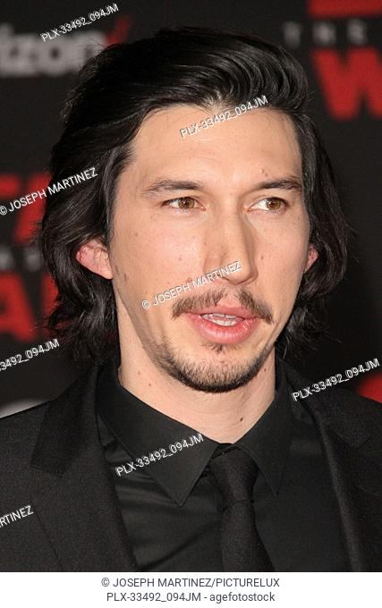 """Adam Driver at the World Premiere of Lucasfilm's """"""""Star Wars: The Last Jedi"""""""" held at the Shrine Auditorium in Los Angeles, CA, December 9, 2017"""