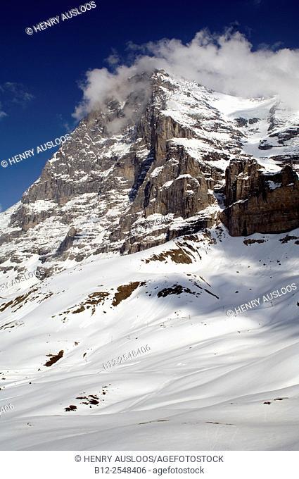Switzerland, Alps, North Face of Eiger, 3970m high