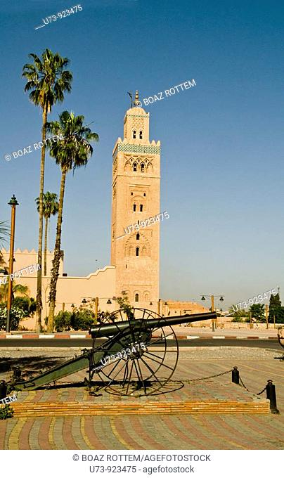 Jamaa Al Koutoubia, the famous mosque in Marrakesh, Morocco