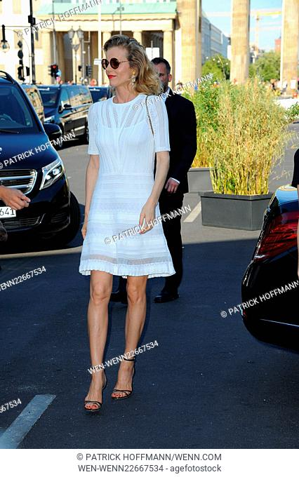 Mercedes-Benz Fashion Week Berlin Spring/Summer 2016 Brandenburg Gate (Brandenburger Tor) - Marc Cain - Arrivals and Front Row Featuring: Eva Herzigova Where:...