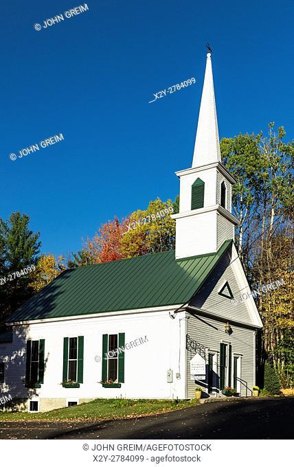 Charming New England church, Denmark, Maine, USA