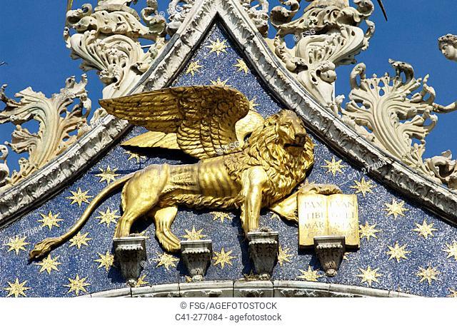 St. Mark's Basilica, detail. Venice. Veneto. Italy