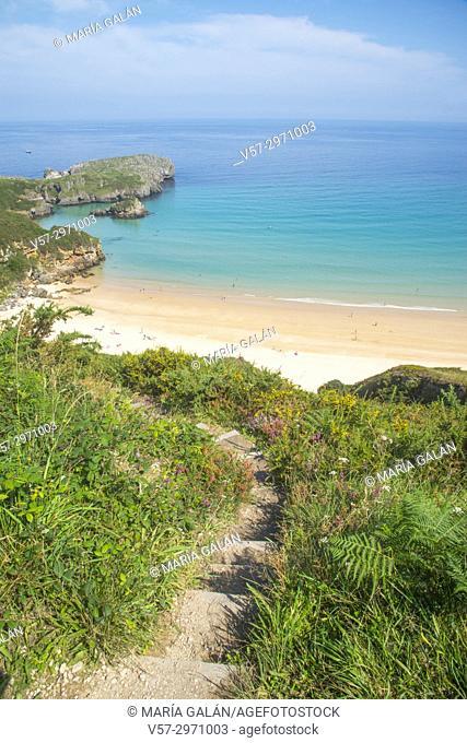 Path to Torimbia beach. Niembro, Asturias, Spain