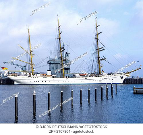 The tall ship of the German Navy called Gorch Fock