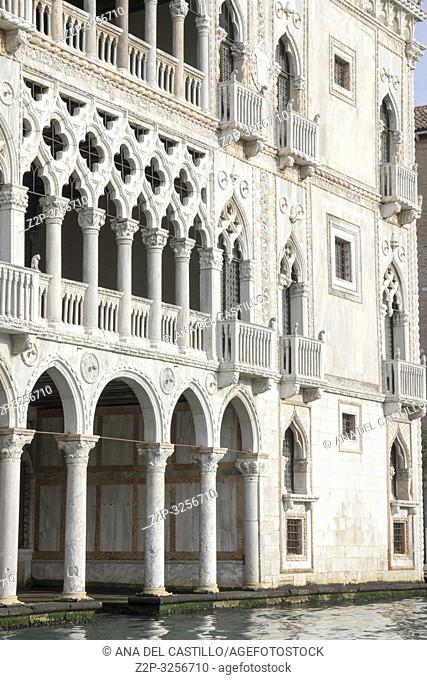 Venice, Veneto, Italy: Ca d oro palace at Grand Canal