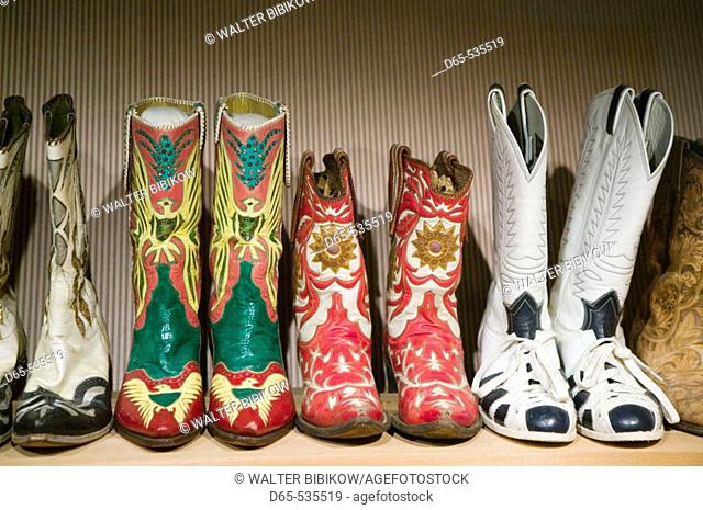 Country Music Mecca of the Midwes.The Roy Rogers & Dale Evans Cowboy Museum. Roy Rogers' Cowboy Boots. Branson. Missouri. USA