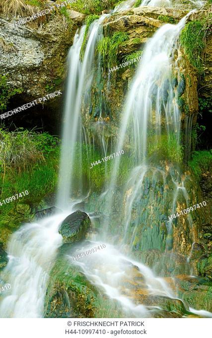 Waterfall detail, St. Gallen, Switzerland