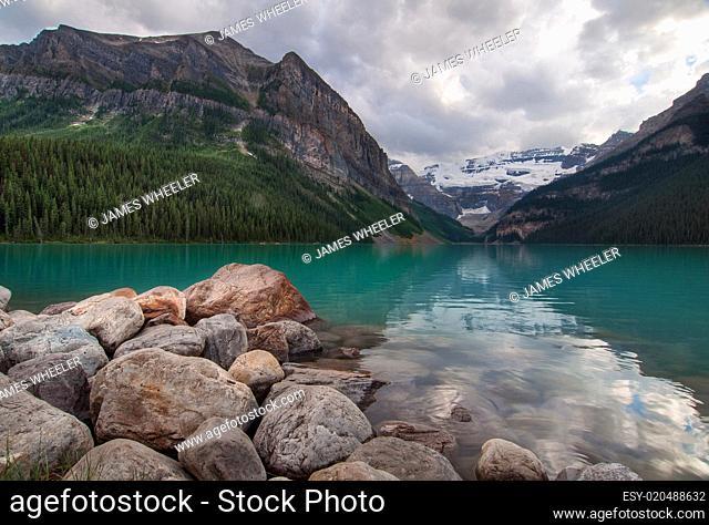 Lake Louise Tranquil Green Lake