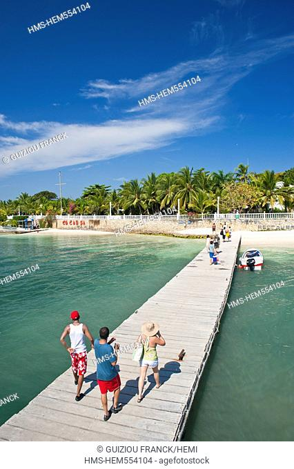 Colombia, Bolivar Department, Natural National Park of Islas del Rosario Coral Islands of Rosario, Isla Grande, Cocoliso Isla Resort