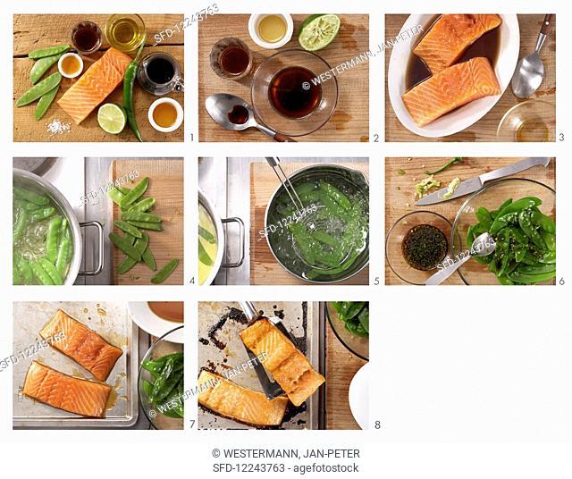 Preparing Soy salmon