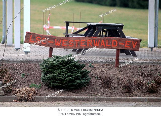 The airfield of the Westerwald Aviation Club e.V. (LSC) in Montabaur,Germany, 26 February 2015. Photo:FREDRIKVONERICHSEN/dpa | usage worldwide