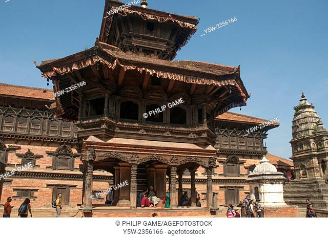 Durbar Square is the heart of the historic city-state of Bhaktapur in the Kathmandu Valley, Nepal. Taken before the catastrophic April 2015 earthquake