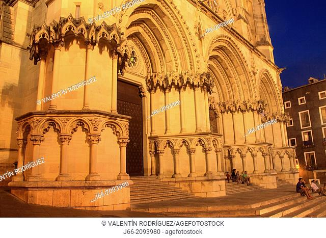 Spain, Castile La Mancha, Cuenca, Cathedral of St Mary and St Julian, Gothic style