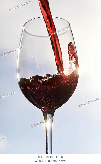 Germany, Red wine in glass, close up