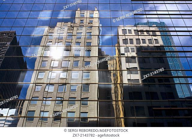 Reflection in the Lever House building. 390 Park Avenue. Just one block from the above, this was built in 1952 and considered at the time of its construction as...