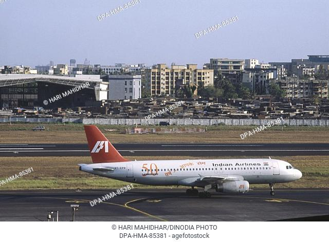 aeroplane at santacruz airport , bombay mumbai , maharashtra , India