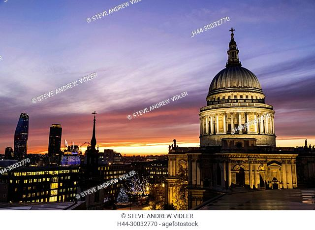England, London, City of London, St.Pauls Cathedral, The Dome