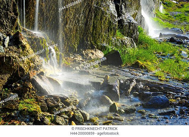 Waterfall in Ticino, Switzerland