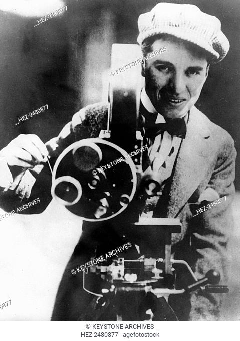 British actor and film director Charlie Chaplin, c1915. Chaplin (1889-1977) was an Academy Award-winning actor and director and is considered to be one of the...