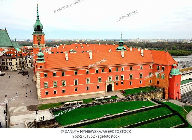 Royal Castle - former official residence of Polish monarchs, Castle square, Old Town of Warsaw, UNESCO World Heritage, Warsaw, Poland, Europe
