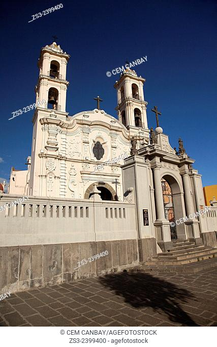 Templo de la Santa Cruz, Santa Cruz of the Spaniards church, Puebla, Puebla State, Mexico, Central America