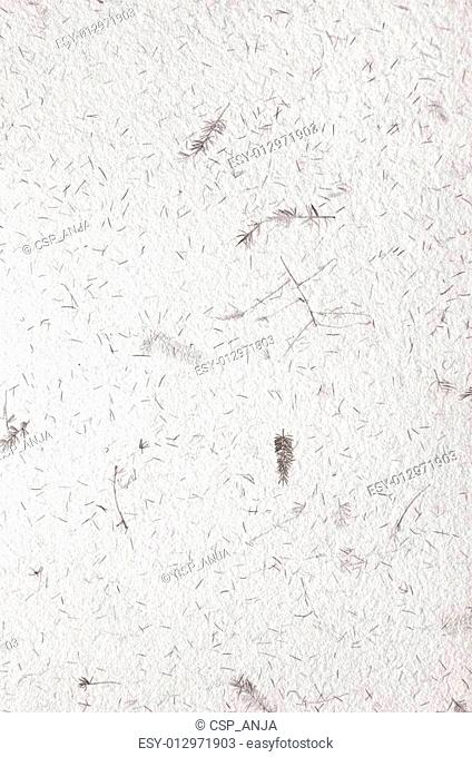 white, decorative handmade paper texture with floral pattern
