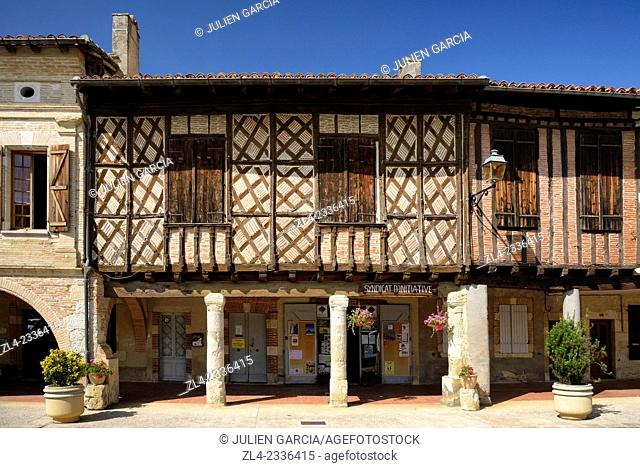 Half-timbered house. France, Gers, Cologne