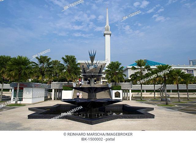 National mosque, Masjid Negara, Kuala Lumpur, Malaysia, Southeast Asia
