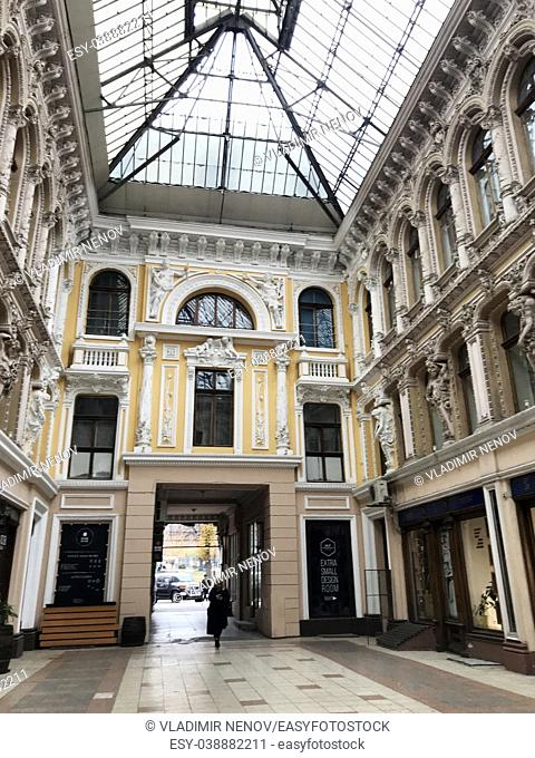 Odessa, Ukraine: The Passage is a hotel and a mall, an architectural masterpiece of the end of the 19th century located on the corner of Deribasovskaya and...