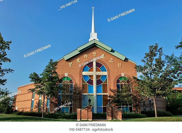Calvary Korean Presbyterian Church in Markham, Ontario, Canada. - MARKHAM, ONTARIO, CANADA, 29/08/2013