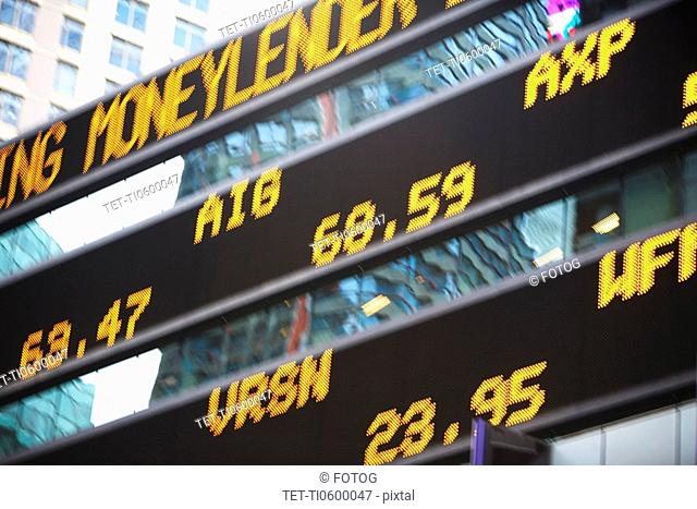 Digital stock ticker