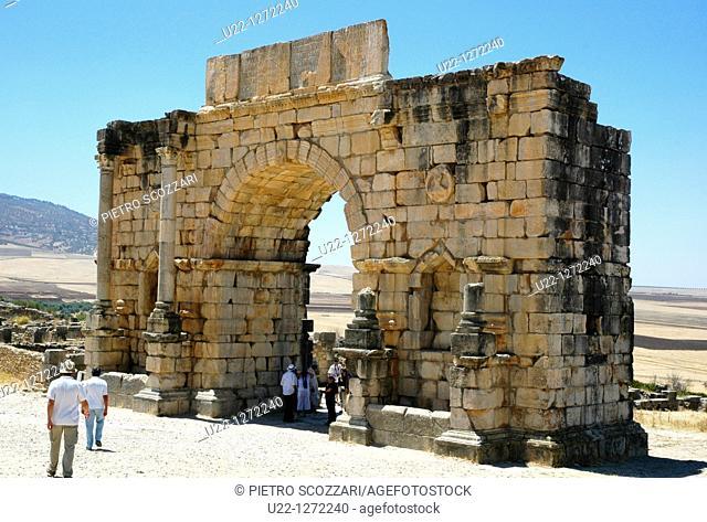 Volubilis (Morocco): the Triumphal Arch