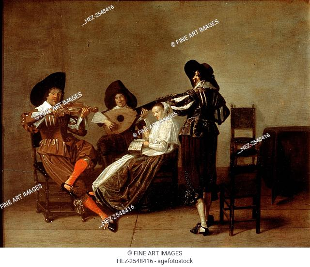 'Musical Evening', early 17th century. Found in the collection of the State A Pushkin Museum of Fine Arts, Moscow