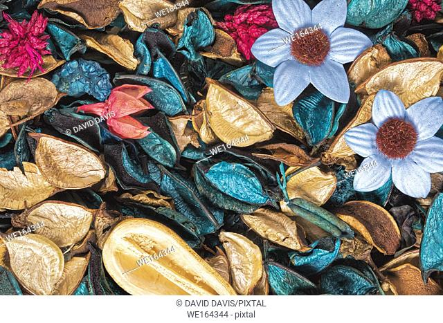 Beautiful and colorful background of Ocean Scent potpourri