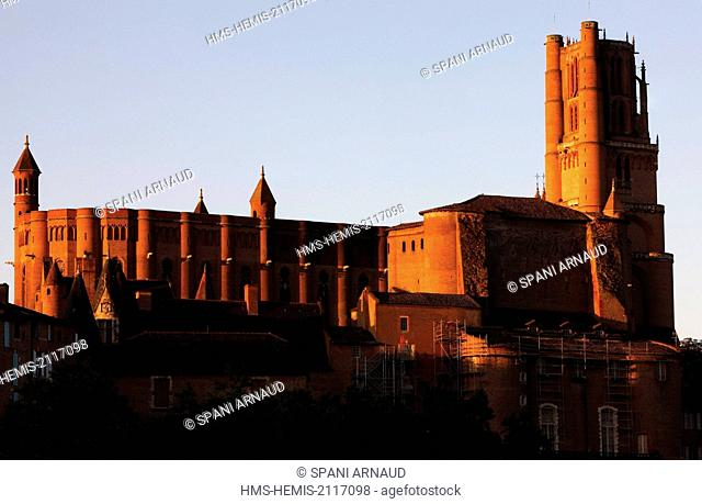 France, Tarn, Albi, listed as World Heritage by UNESCO, Sainte Cecile, overview of the catedral