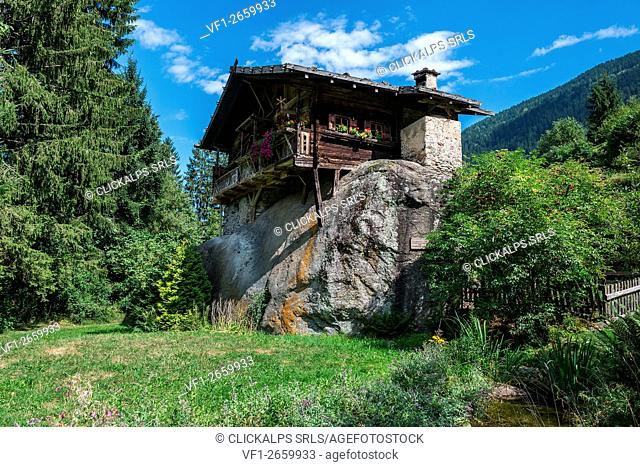 Ulten Valley, South Tyrol, Italy. The House on Stone in the Valley of Ulten/Ultimo