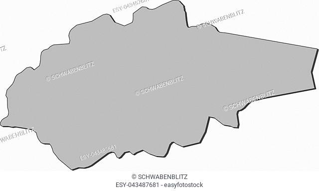 Map of Jogeva, a province of Estonia