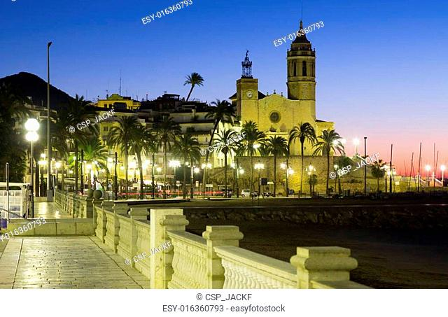 Dawn view of Sitges