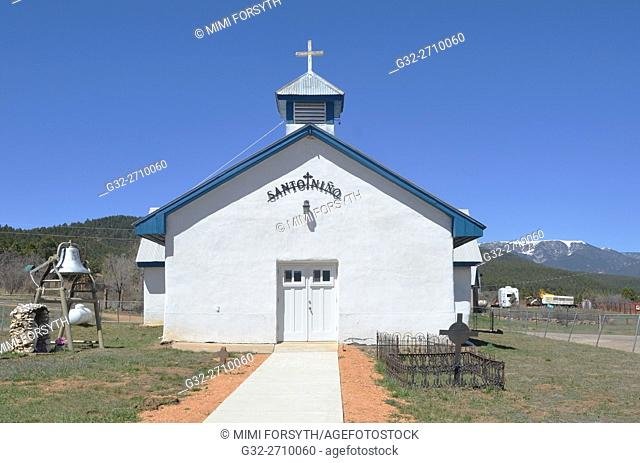 Santo Niño church, Rociada, New Mexico, USA