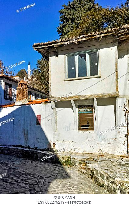 Typical architecture of old town of Xanthi, East Macedonia and Thrace, Greece