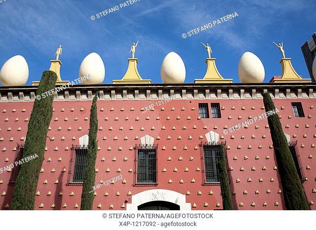 Teatre-Museu Dali. Theatermuseum Dali in Figueres near Barcelona, Spain