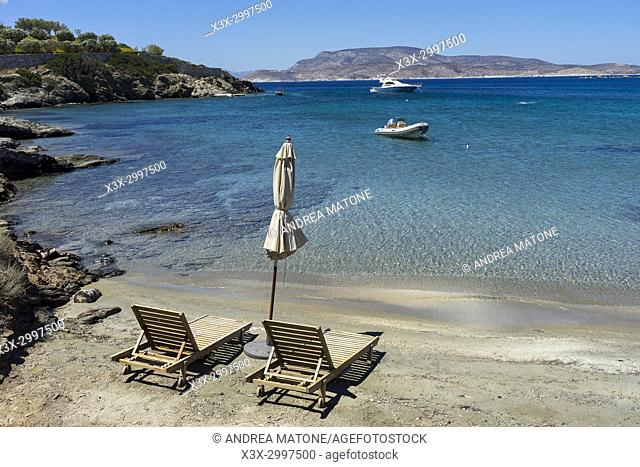 Beach view. Schinoussa island. Greece